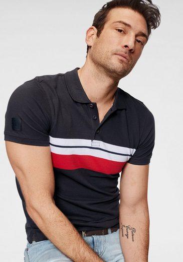 TOM TAILOR Polo Team Poloshirt mit Kontraststreifen