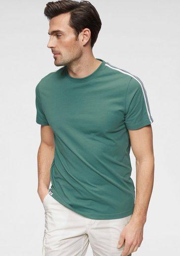 Rhode Island T-Shirt mit Streifentape am Ärmel
