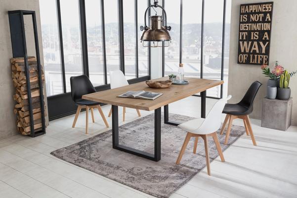 SIT Esstisch »Топы &Tables« mit Tischplatte aus Wildeiche, mit Baumkante wie gewachsen