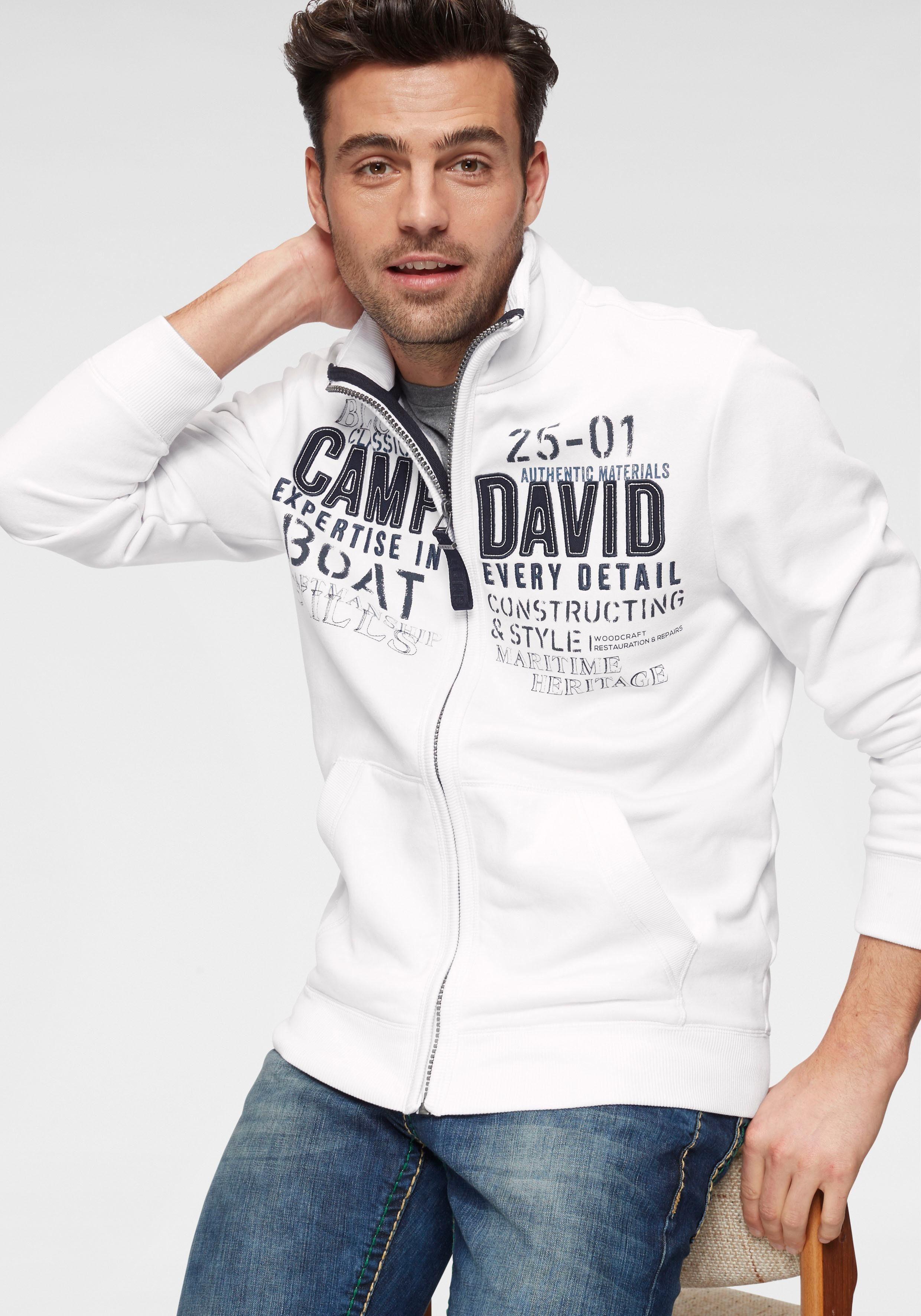 CAMP DAVID Hoodie mit trendigem Frontdruck kaufen | OTTO