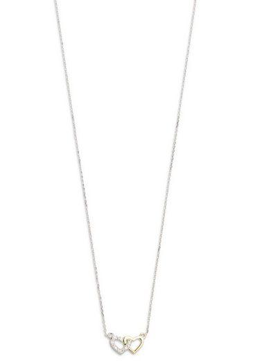 XENOX Kette mit Anhänger »Heart, Herzen, XG4201G«, mit Diamanten