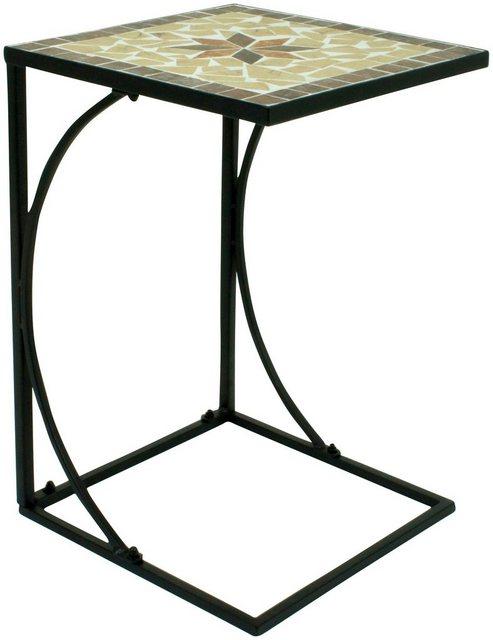 Wohnzimmertische - GARDEN PLEASURE Beistelltisch »Amarillo«, Stahl Mosaik, 35x35 cm  - Onlineshop OTTO