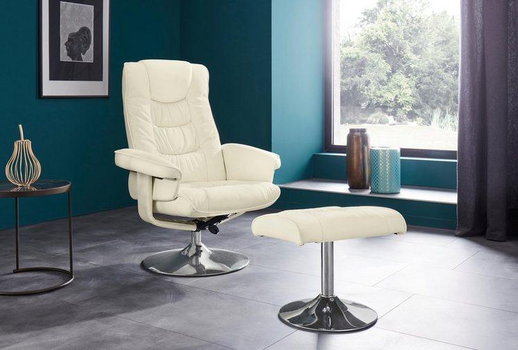 Places of Style Relaxsessel mit Hocker »Springfield« mit vielen Funktionen, in zwei verschiedenen Bezugsqualitäten verfügbar