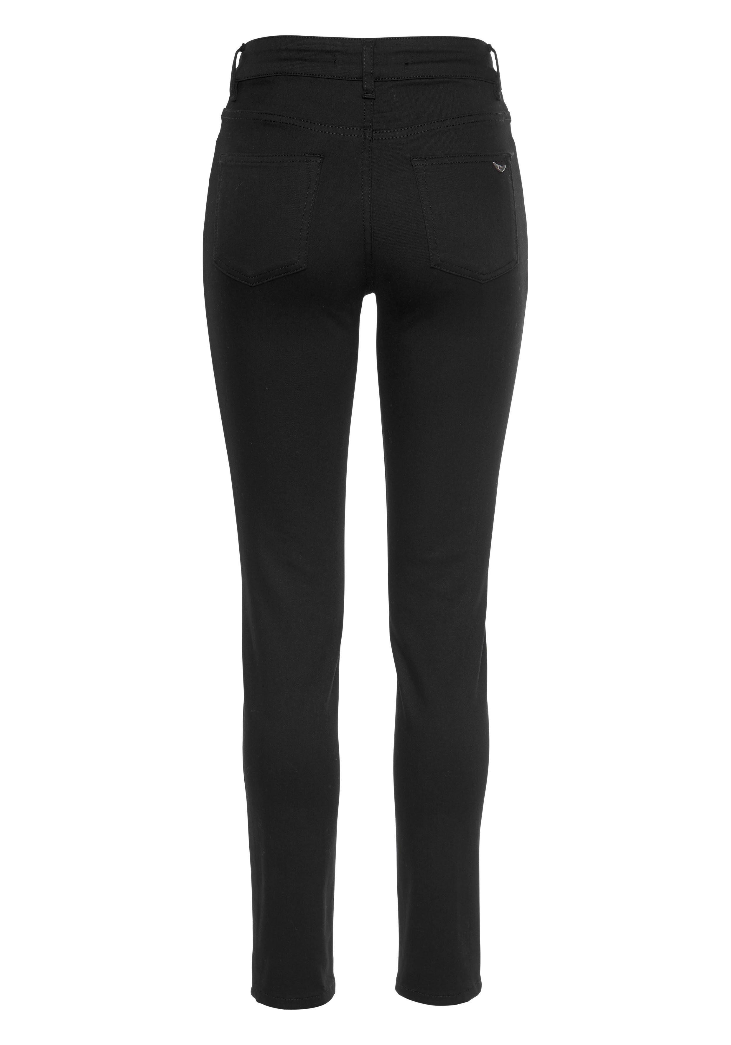 fit Arizona Waist Online »black Black« jeans Bleibt Slim Kaufen High iOPkXZuT