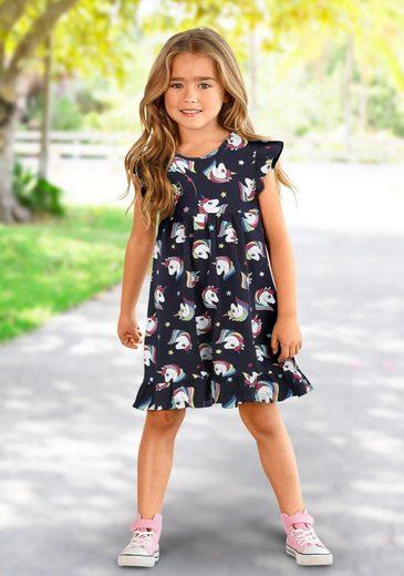 KIDSWORLD Jerseykleid mit Einhornmuster