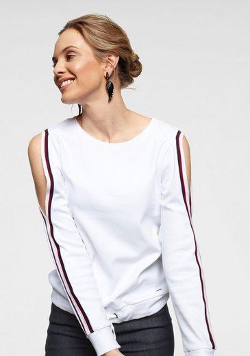 Arizona Sweatshirt »mit Cold Shoulder und Tunnelzug« Mit Cold Shoulders