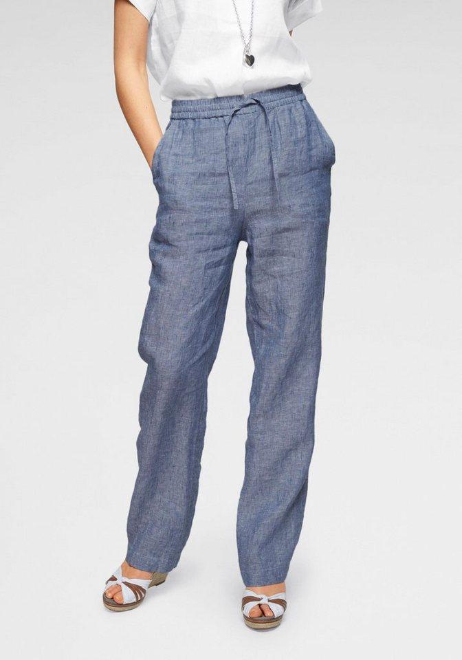 reich und großartig neuartiger Stil Niedriger Verkaufspreis Clarina Haremshose, Hose mit elastischem Bund aus reinem Leinen online  kaufen | OTTO