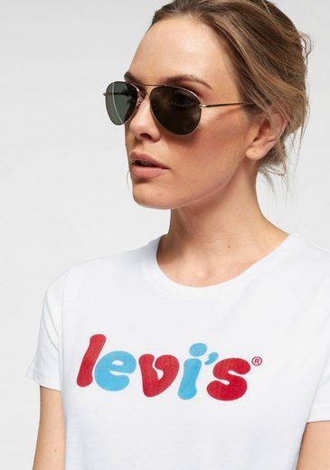 Mit Levi's® »the shirt schriftzug Tee« Logo Perfect T Gerundetem qAxAwErX5