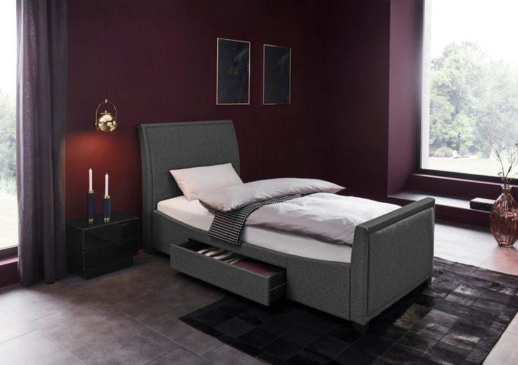 Places of Style Polsterbett »Truffle« mit 2 Seitenschubkästen für viel Stauraum, in 2 Bezugsqualitäten und 3 verschiedenen Bettengrößen