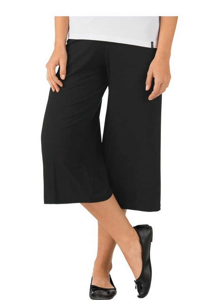 Trigema Culottes | Bekleidung > Hosen > Culottes | Schwarz | Trigema