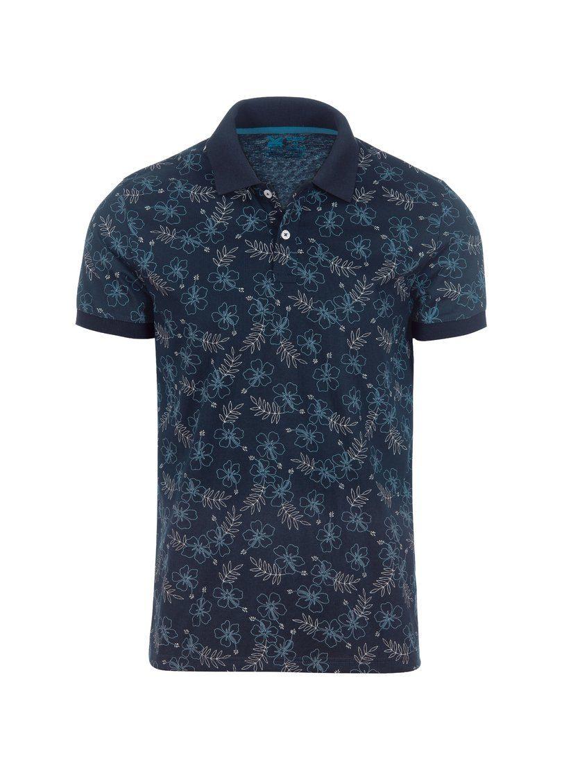 TRIGEMA Slim Fit Poloshirt Hawaii