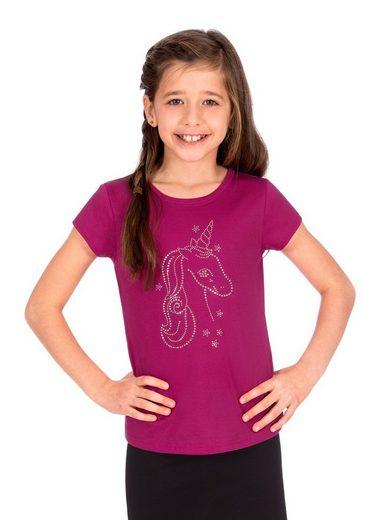 Trigema T-Shirt mit Glitzer-Einhorn