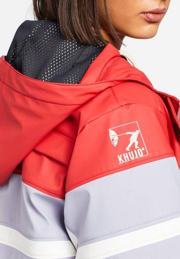 Aus Regenmantel Rot Wasserabweisendem Kapuze Material Mit Khujo »souanna« DHbE9IeYW2