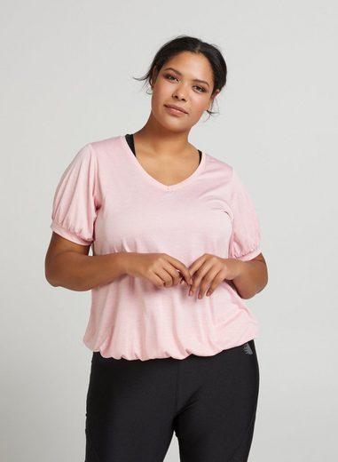 Zizzi Funktionsbluse Damen Sport Shirt Kurzarm Quick Dry Trainings Oberteil Große Größen