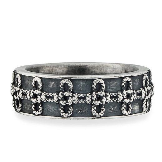 CAÏ Ring »925/- Sterling Silber matt oxidiert Knoten«