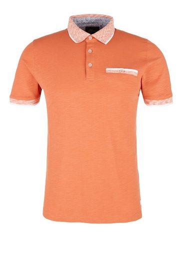 oliver Cup Orange Red Kontrast S Mit Label details Poloshirt eBWdxoCr