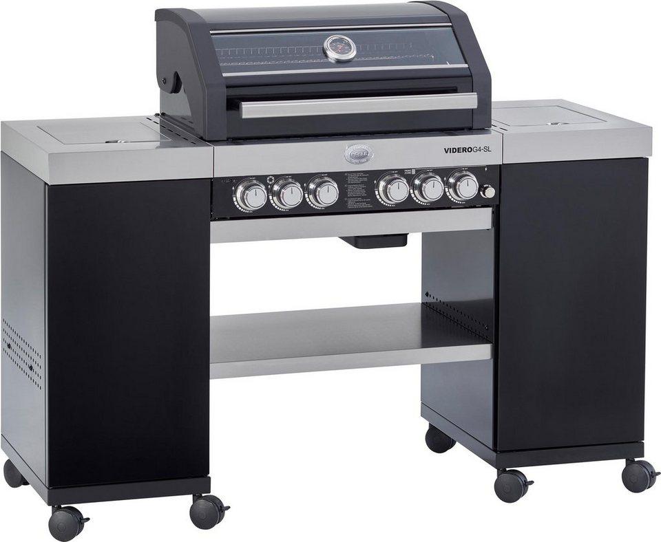 ROESLE Gasgrill BBQ-Island Videro G4-SL schwarz, Outdoorküche, Edelstahl  18/10, Stahl pulverbeschichtet, 4 Hauptbrenner, Modell 2019 online kaufen |  ...