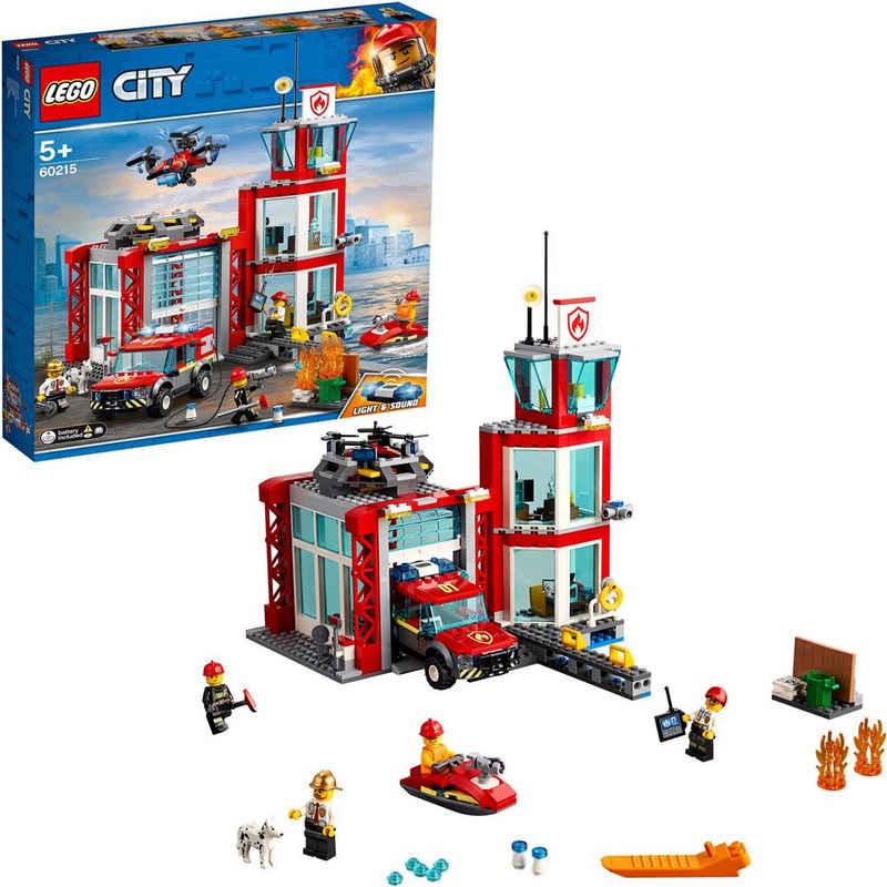 LEGO® Konstruktionsspielsteine »Feuerwehr-Station (60215), LEGO® City«, (509 St)