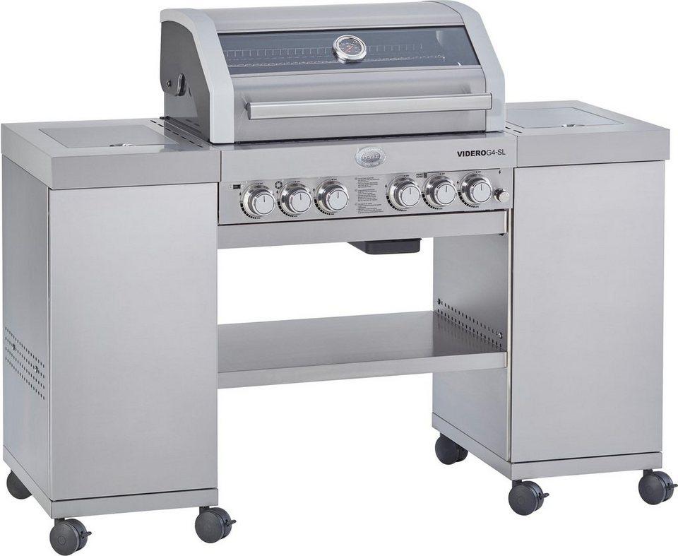 ROESLE Gasgrill BBQ-Island Videro G4-SL Edelstahl, Outdoorküche, Edelstahl  18/10, 4 Hauptbrenner, Modell 2019 online kaufen | OTTO