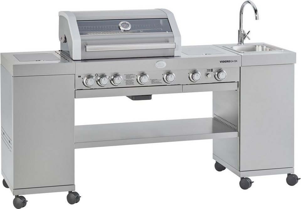 Rösle Gasgrill Bewertung : Roesle gasgrill bbq kitchen videro g4 sk edelstahl integriertes