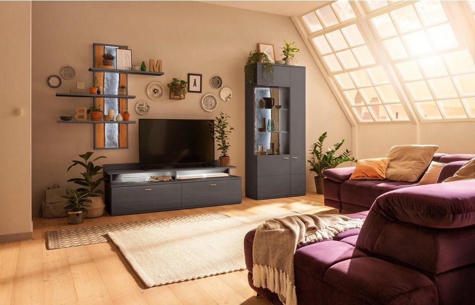 Set One By Musterring Wohnwand Tacoma Set 4 Tlg Mit Wandregal Online Kaufen Otto