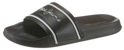 c99f68bd Pepe Jeans »Slider« Pantolette mit modischen Logoschriftzügen
