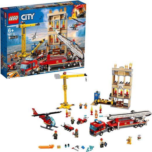 LEGO® Konstruktionsspielsteine »Feuerwehr in der Stadt (60216), LEGO® City«, (943 St)