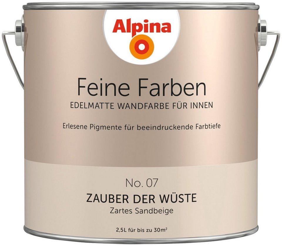 alpina farbe alpina feine farben zauber der w ste 2 5 l. Black Bedroom Furniture Sets. Home Design Ideas