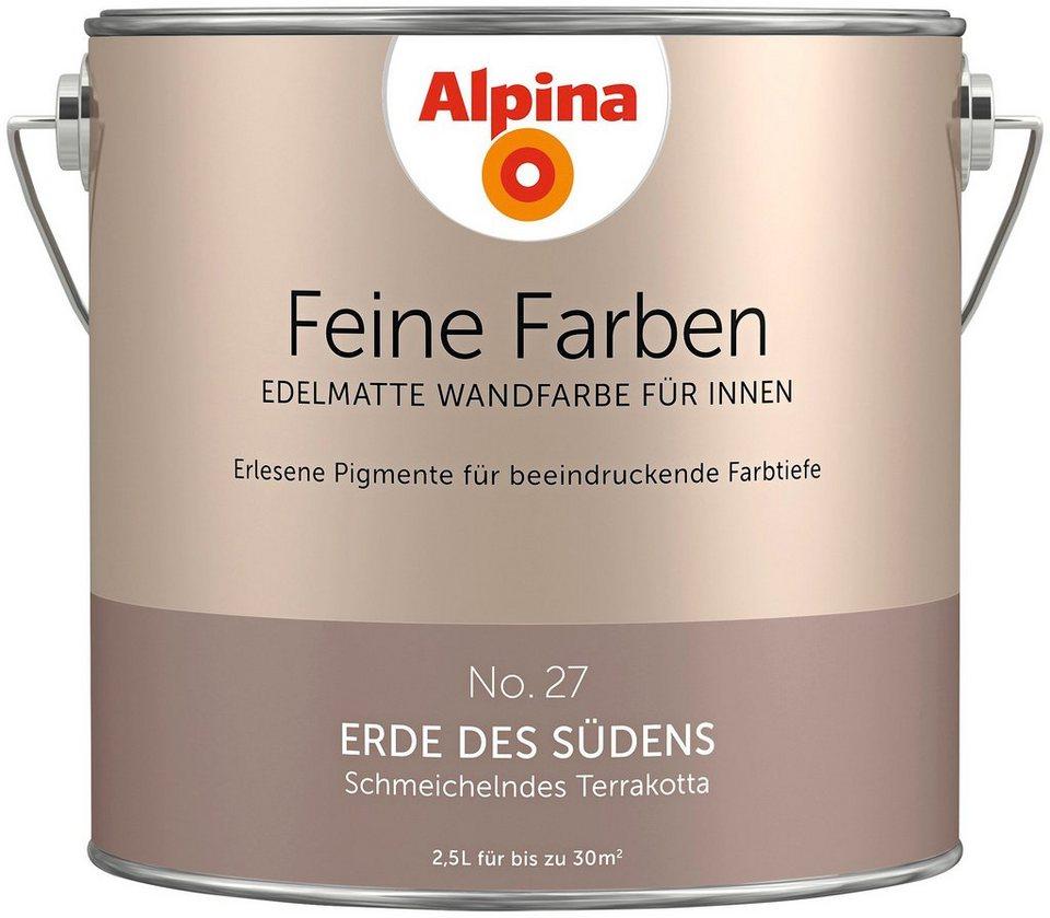 Alpina Erde Des Südens : alpina farbe alpina feine farben erde des s dens 2 5 l ~ Watch28wear.com Haus und Dekorationen