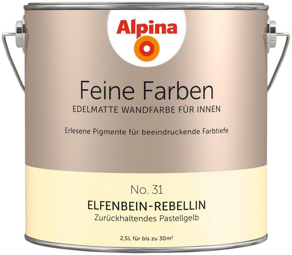 ALPINA Farbe »Alpina Feine Farben Elfenbein-Rebellin«, 2,5