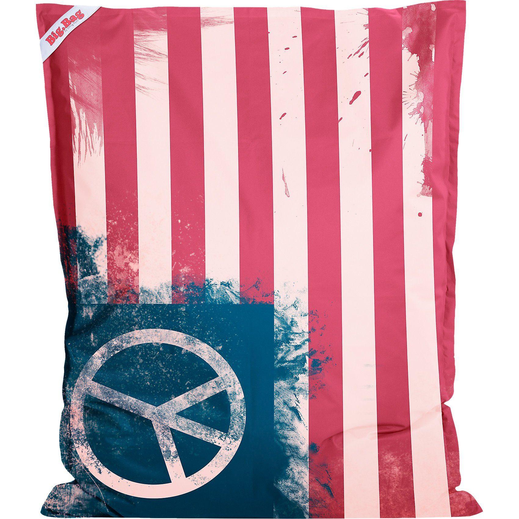 Sitting Point Sitzsack BigBag PEACE FLAG, 130 x 170 cm