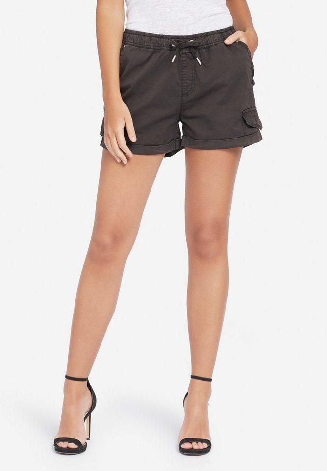 khujo Hotpants »ENORA« mit elastischem Bund | Bekleidung > Hosen > Hotpants | Grau | khujo
