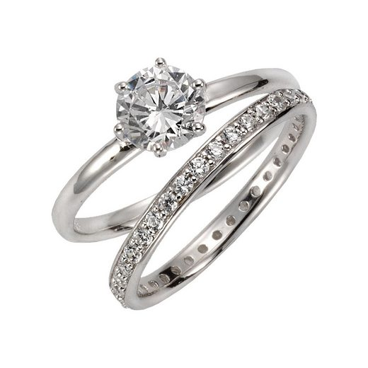 CELESTA Ring-Set »925/- Sterling Silber Zirkonia«