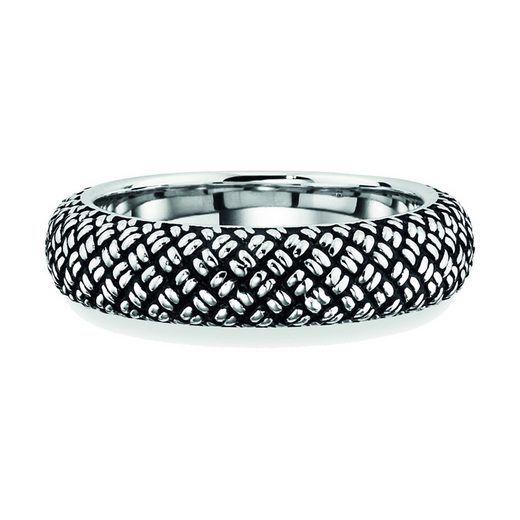 CAÏ Ring »925/- Sterling Silber rhodiniert Paracord«