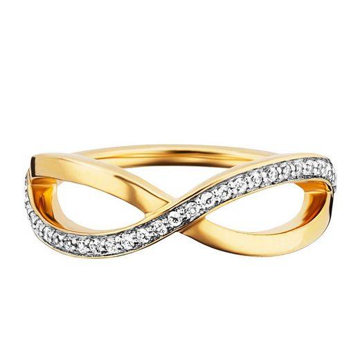 CAÏ Ring »925/- Sterling Silber gelb vergoldet Topas«