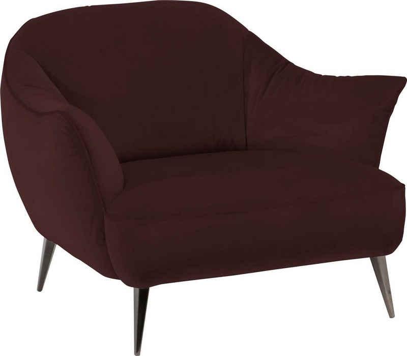 NATUZZI EDITIONS Sessel »Estasi«, in Leder oder Stoff mit modernen Metallfüßen