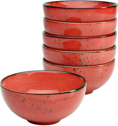 Schale Steinzeug Tapasschale CreaTable HOT RED Dipschale 11,5 cm