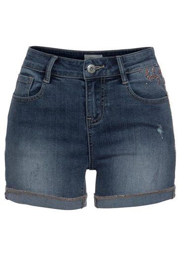 Haily's Jeansshorts »baby« Mit »baby« Mit Glitzerdetails Haily's Glitzerdetails Jeansshorts »baby« Haily's Mit Jeansshorts rT5wvZ4rq