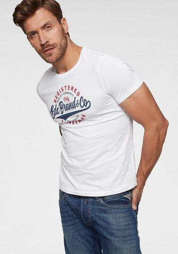 edc by Esprit Print-Shirt mit großem Print vorn