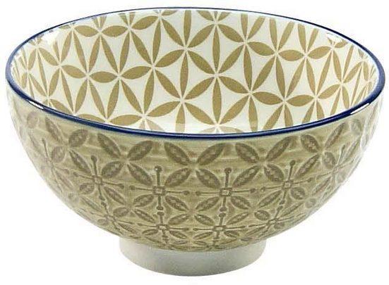 CreaTable Dipschale »Mediterran«, Steinzeug, (Set, 4-tlg), Ø 11,5 cm, Farbe taupe