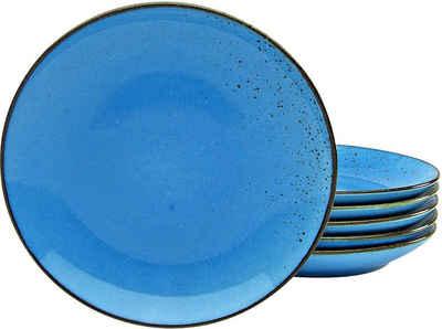CreaTable Dessertteller »NATURE COLLECTION«, (6 Stück), Ø 21 cm, Steinzeug