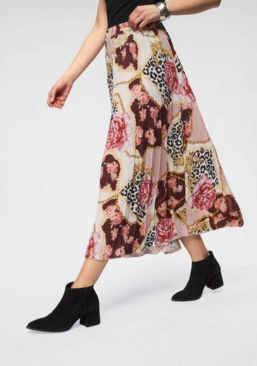 HaILY'S Plisseerock »LIZA« in trendy Kettenprint