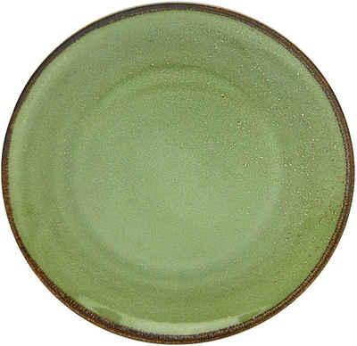 CreaTable Speiseteller »NATURE COLLECTION«, (6 Stück), Ø 27 cm, Steinzeug