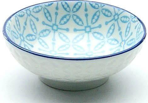 CreaTable Tapas-Schale »Mediterran«, Steinzeug, (Set, 4-tlg), Ø 8 cm, Farbe blau