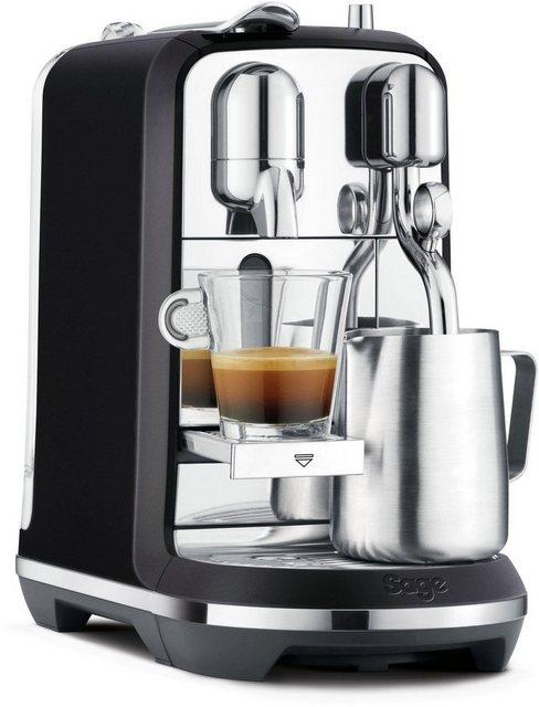 Nespresso Kapselmaschine SAGE Nespresso-Maschine »The Creatista Plus  schwarz  SNE800BTR2EGE1 «   Küche und Esszimmer > Kaffee und Tee > Espressomaschinen   Nespresso