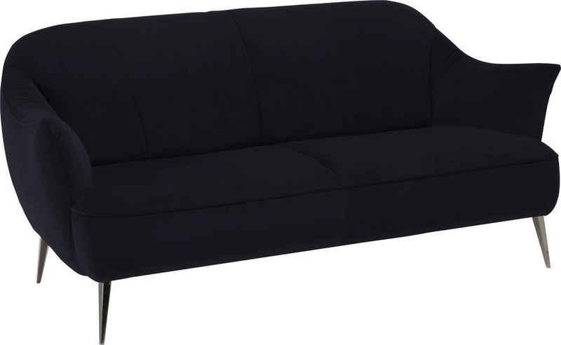 NATUZZI EDITIONS 2-Sitzer »Estasi«, in Leder oder Stoff mit modernen Metallfüßen