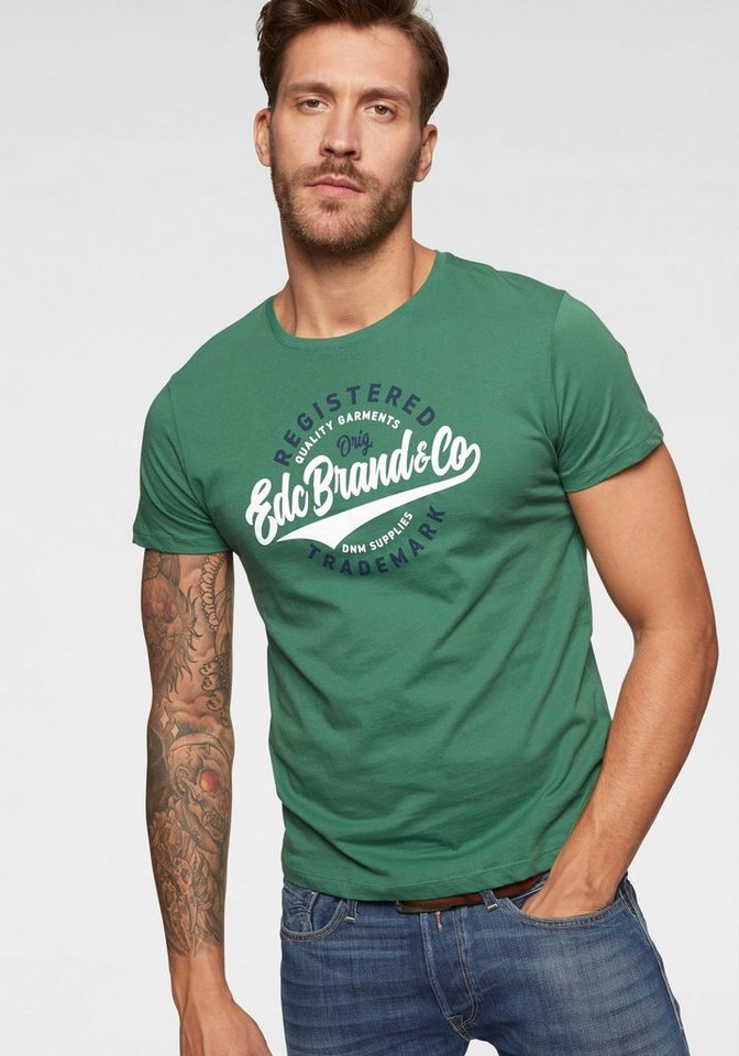 edc by Esprit Print-Shirt (1-tlg) mit großem Print vorn