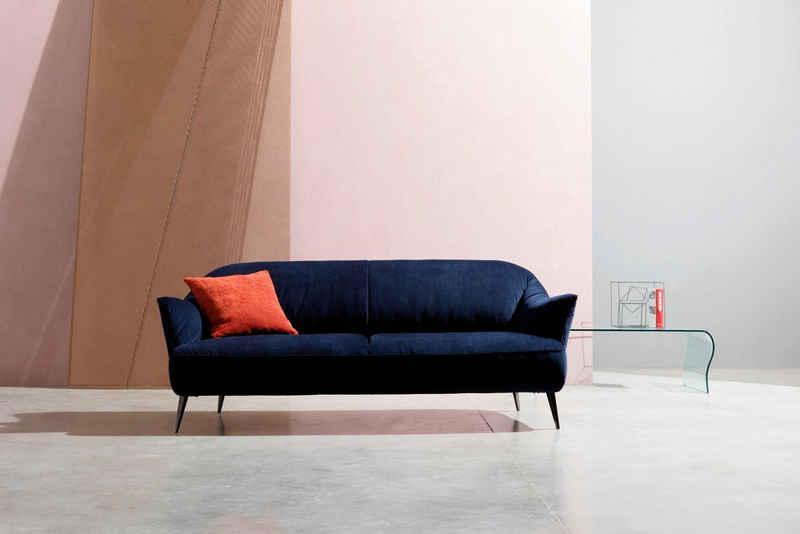 NATUZZI EDITIONS 3-Sitzer »Estasi«, in Leder oder Stoff mit modernen Metallfüßen