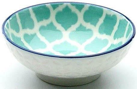 CreaTable Tapas-Schale »Mediterran«, Steinzeug, (Set, 4-tlg), Ø 8 cm, Farbe petrol