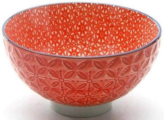 CreaTable Dipschale »Mediterran«, Steinzeug, (Set, 4-tlg), Ø 11,5 cm, Farbe rot